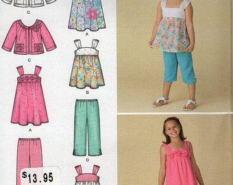 FREE US SHIPSimplicity 2469 Girls Dress top Jacket Shorts Blouson Capris Size 3 4 5 6 Sewing Pattern Uncut New