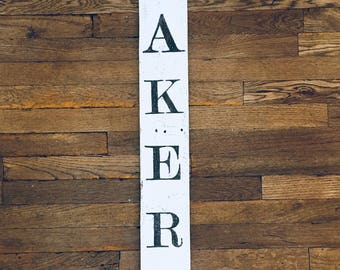 "Reclaimed Wood Hand- Painted Farmhouse ""Bakery"" Sign"
