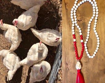Vegan White and Red Chicken Mala