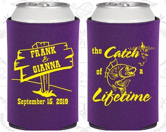 Purple Wedding, Purple Can Coolers, Purple Wedding Favors, Purple Wedding Gift, Purple Party Decor (245)