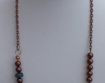 Neon Apatite and Bronze Hematite multi way necklace.