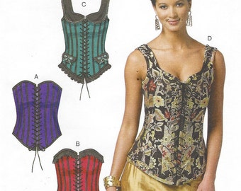 Butterick Sewing Pattern B5662 Womens Historical Corsets Size 6 8 10 12 14 Bust 30 1/2 to 36 UnCut Victorian Steampunk Cosplay Corsets