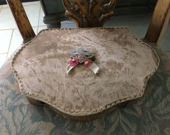 Antique Victorian Vanity Box, Silk, Ribbon Work, Gorgeous!