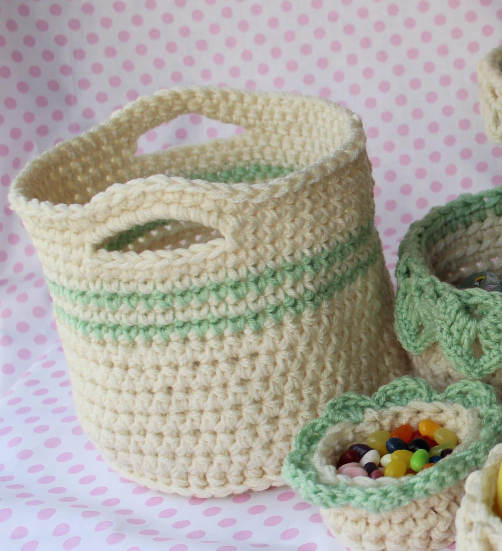 Crochet Basket Pattern - Crochet Pattern for Large Basket with ...