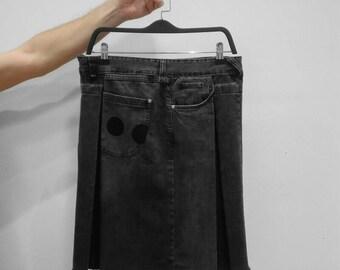 Salts/Sales-jeans recycled on a denim kilt skirt/kilt-#037