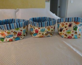 Fabric storage bowls -set of 3