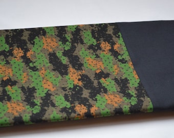 Camouflage Pillowcase With Black Cuff