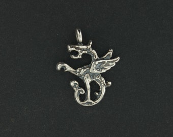 Dragon Charm in Sterling Silver