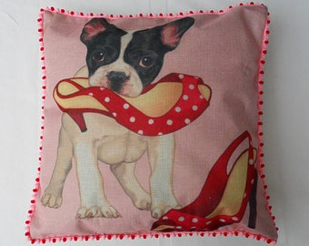 The guilty dog cushion