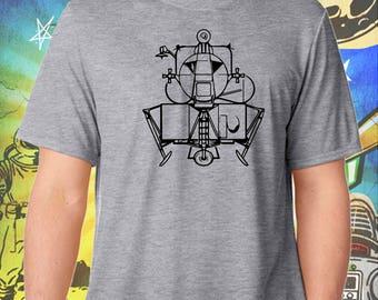 Space Exploration / Apollo Lunar Module / Men's Gray Performance T-Shirt