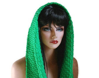 Emerald Infinity, Womens Scarf, Green Cowl, Infinity Scarf, Womens Scarf, Emerald Scarf, Green Neckwarmer, Mens Scarf, Wool Scarf, Neckwarme