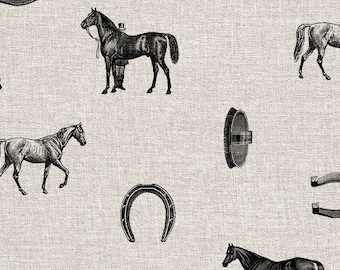 Vintage Horse patterns - Two Digital Papers for Scrapbooking, Craft and Design Projects