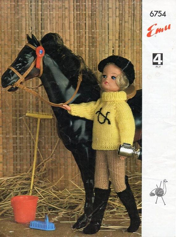 Teenage Doll Knitting Pattern Pdf Sindy Barbie Riding Outfit