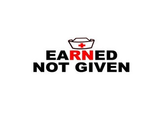 Earned Not Given SVG