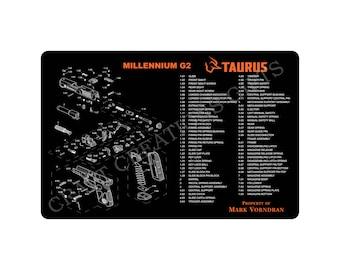 Gun Cleaning Mat New Logo Taurus Millennium G2 Maintenance Range Firearm Pistol