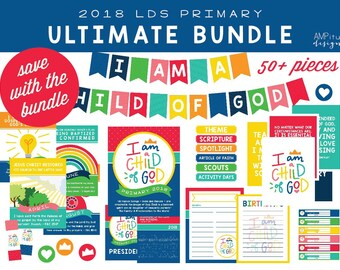 2018 LDS Primary I Am A Child Of God Ultimate Bundle