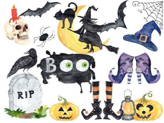 Halloween Cliparts Aquarell Halloween clip Kunst Hexen Hut