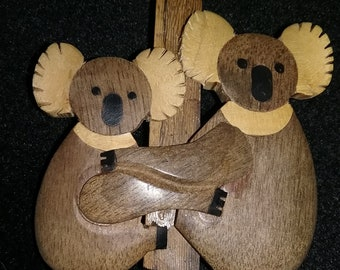 Vintage Wooden Koala Pin