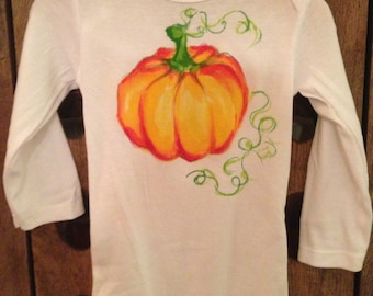 Hand Painted Onesie- Pumpkin