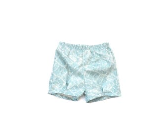 Vintage blue Shorts with Pleat