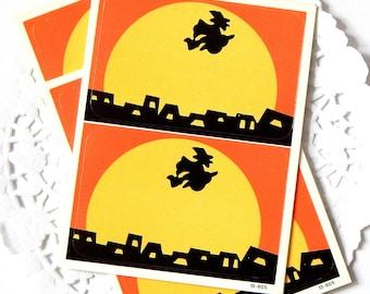 Vintage Halloween Labels. Halloween Witch. Vintage Halloween. Journal Ephemera. Junk Journal Paper. Planner Stickers. Scrapbook Ephemera.