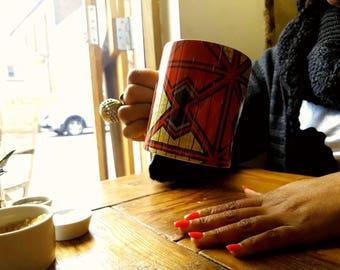 Mugs/ unique coffee mugs / printed mugs / cups / ankara gifts/ gifts for her/ gifts for him/ unique gifts/ christmas gifts- Red