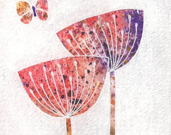 Fine art print of original painting | Two Poppies