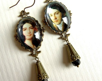 Impromptu Earrings - Chopin Earrings - George Sand Earrings - Romantic Era Earrings - Music Earrings - Composer Earrings - Writer Earrings