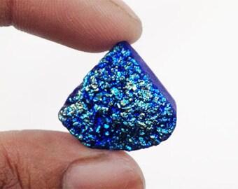 80% SALE Titanium Druzy Agate cabochon 33.5Ct. (22x21x10 mm) Drop Shape NS21601