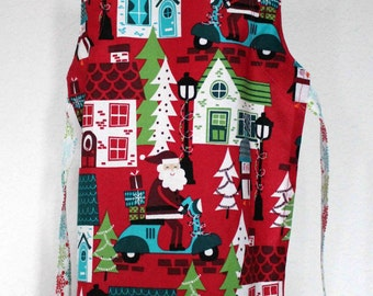 Christmas Santa Scene Adjustable Children's Apron