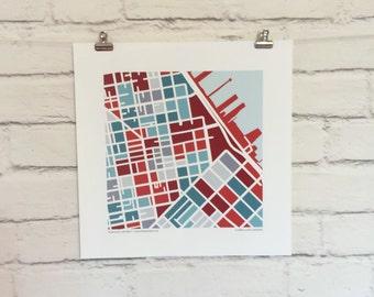 San Francisco Financial District Map Print