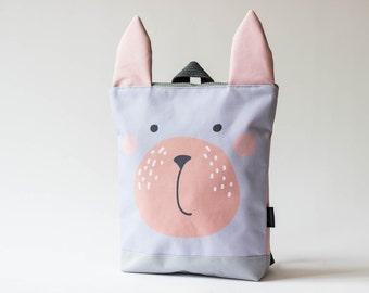 Bunny backpack, Kids backpack, Printed waterproof backpack
