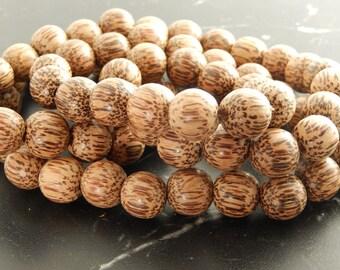 10 pearls 13mm coconut wood