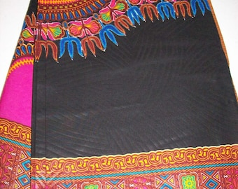 Black and pink dashiki fabric 6 yards wholesale/ Dashiki clothing/ Angelina fabric/ Black Java print