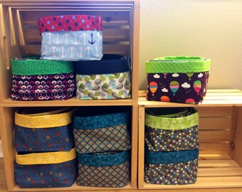 Custom Fabric Bin Set