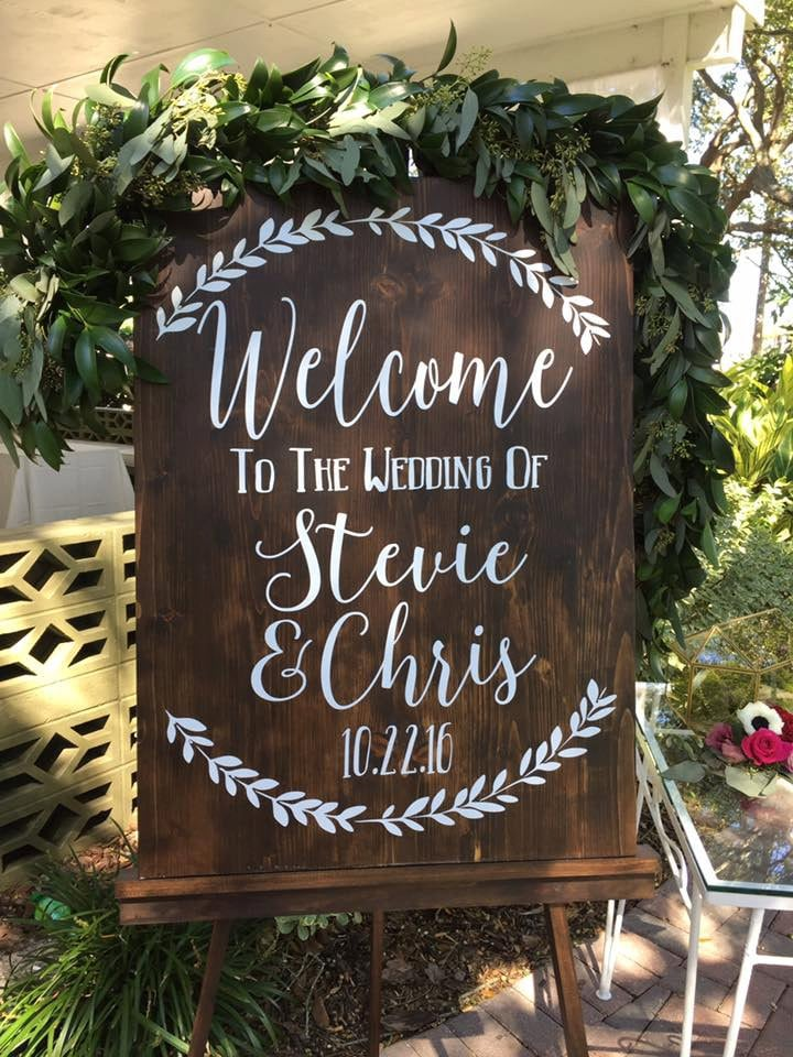 Welcome To The Wedding Of Decal Decor
