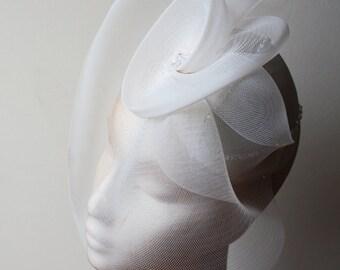 Hochzeitssuite Ivory Silk-Knochenvogel mit Swarovski Crystal - schöne schicke Braut Hut