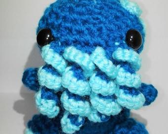 Adopt a Crochet Blue Baby Cthulhu named Frank