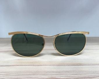 Vintage sunglasses gold green