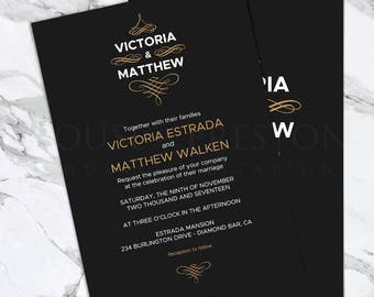 Monaco Wedding Invitations, Luxury Wedding Stationery Set