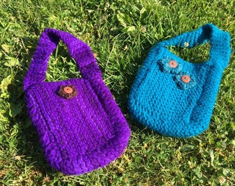 Hand Knit & Lightly Felted Wool Kiddie Purse!