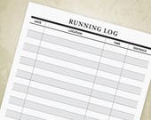 Running Log Printable PDF...