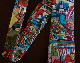 Superhero Tie made from Marvel Retro Comic Fabric