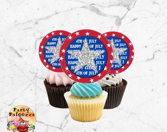 Printable 4th of July cupcake topper/gift tag/sticker