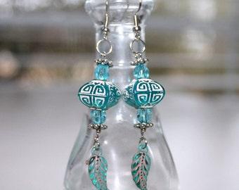 Turquoise Lantern earrings.