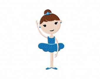 Ballerina dancing dancer girl tutu machine embroidery design