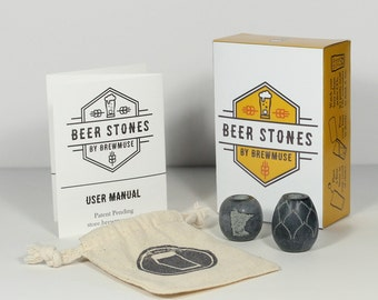 Beer Stones Set - 1 Hop 1 Olive - Perfect Your Pint!