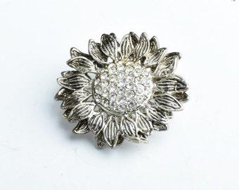 Crystal Brooch, Floral Brooch flower, G356.01