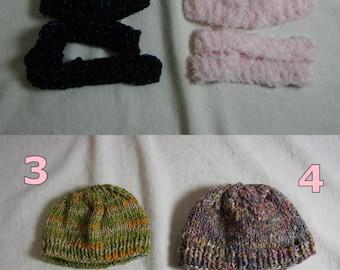 Scarf Bonnet Hat Set Pullip Blythe Puppe Doll 1/6 Winter