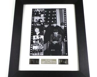 The Beatles Original Vintage Hard Days Night Film Cells Memorabilia in Picture Frame